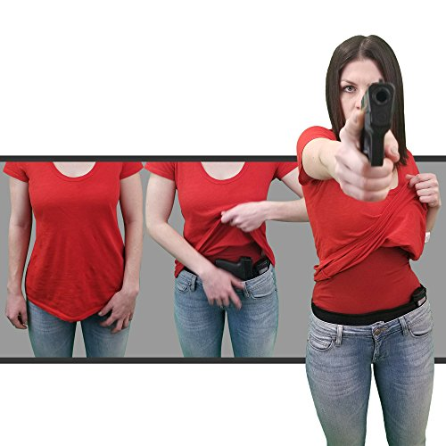 Concealed Carry Belly Band Holster - Deep Concealment - Fits ANY Handgun - Great for Women & Men. Use With ANY Clothing in ANY Position - IWB, Apendix, SOB, Shoulder Carry. Left or Right Handed. ()