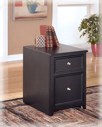 Contemporary Almost Black Carlyle File Cabinet