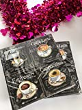 20-ct Coffee Napkins   Black and White Napkins