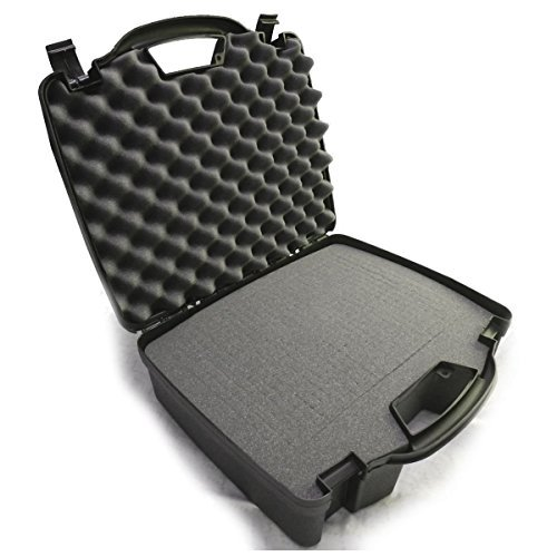 DRUMSAFE Drum Kit Microphone Carry Hard Travel Carry Case fits Kick Bass Drum Mic , Snare Tom mic , Overhead mic , Mounts , Clamps for CAD , Shure , Samson , Pyle-Pro , Audix and More (Rack Tom Case)