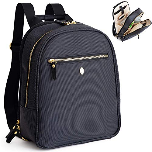Small Baby Backpack Diaper Bag, Black - Stylish and compact, fits all essentials, prevents back pain and leaves your hands free for your baby, durable and well-constructed - Idaho Jones - Claremont