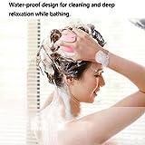 Hair-Massage-Brush-Head-Neck-Massager-BMK-BLUEMICKEY-Silicone-Electric-Vibration-Comb-Shampoo-Bath-Scalp-Care-Vibrating-Brush-for-Dry-Damaged-HairMen-Women-Kids-Pink