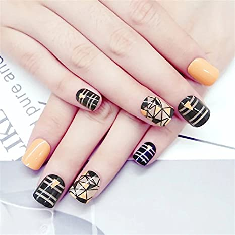 24 Pc Designer Beautiful Artificial Nails With Adhesive Glueil