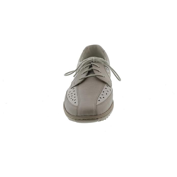 Waldläufer 607003-244-398, Chaussures de ville à lacets pour femme - Blanc - winterweiß,