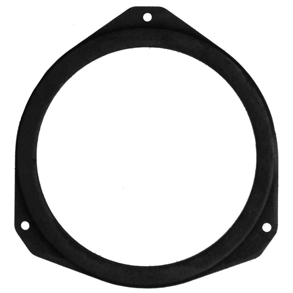 Farbe: schwarz passend f/ür Vordert/ür 1 Paar Signum 165 mm MDF Lautsprecherringe kompatibel mit Opel Corsa Vectra Astra