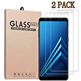 [2-Pack] Samsung Galaxy A8 2018Screen Protector, Premium Quality Tempered Glass Protective Film 0.33mm Anti-Bubble Shield 9H Hardness Clear Scratch Resist Bubble-free Anti-Fingerprint
