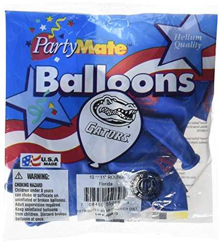 (Pioneer Balloon Company 10 Count University of Florida Latex Balloon, 11