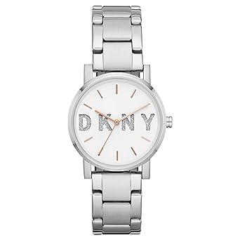 DKNY Reloj Analógico para Mujer de Cuarzo con Correa en Acero Inoxidable NY2681: Amazon.es: Relojes
