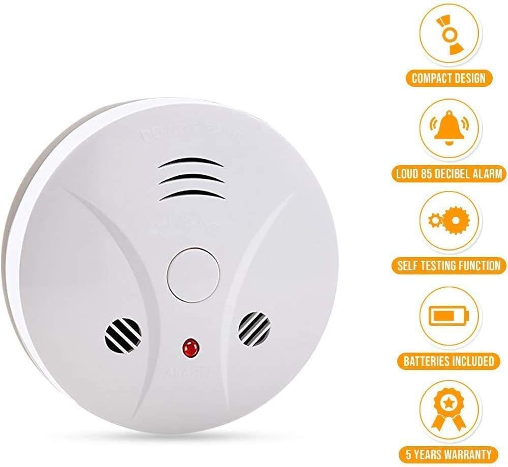 3 Pack Fire Alarms Smoke Detector Battery Operated With Photoelectric Sensor And Silence Button Travel Portable Smoke Alarms Amazon Com