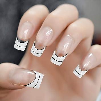 Nude Ballerina Fake Nails Marble White  , Amazon.com