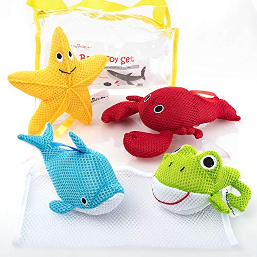 - Little Additions Soft and Educational Baby Bath Toy Set with Storage Bag