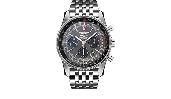 0949d2bc53d Amazon.com  Breitling Navitimer 01 Stainless Steel 46mm Mens Watch  Watches