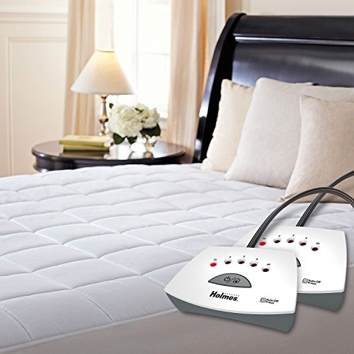 Quilted Heated Mattress Pad - Holmes Premium Quilted Electric Heated Mattress Pad - Queen Size