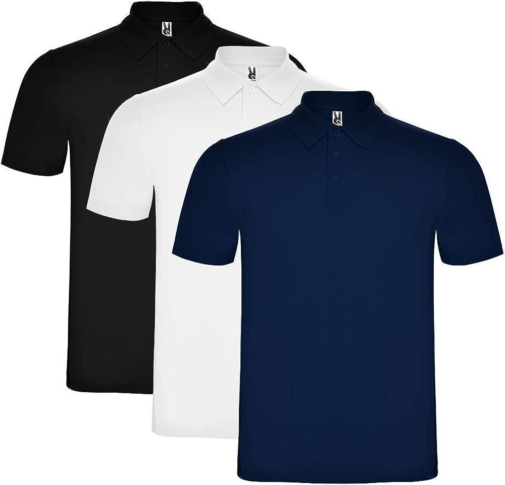 ROLY Pack de 3 Polo para Hombre, 100% algodón, Austral: Amazon.es ...