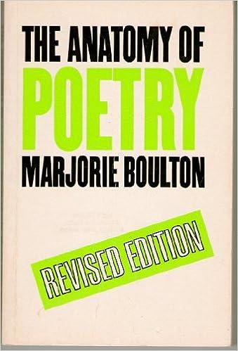 Amazon The Anatomy Of Poetry 9780710090874 Marjorie Boulton