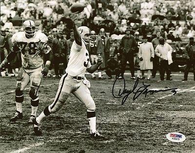 Daryle Lamonica Signed Photo - 8x10 COA AFL - PSA/DNA Certified - Autographed NFL Photos