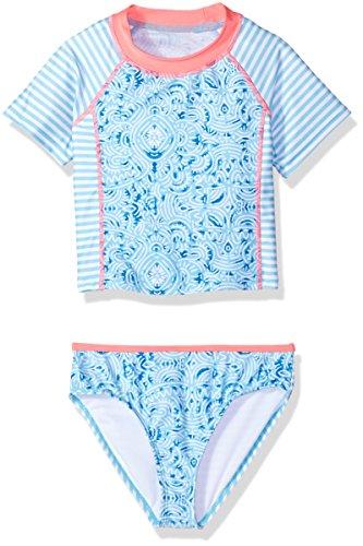 Jantzen Little Girls NEO Nautical Rashguard Set, Maze Print, 4