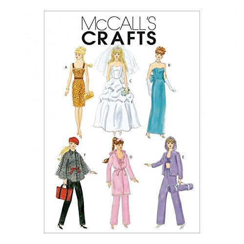 McCall \'s Schnittmuster 6258) Crafts Puppenkleider Größen: One Size ...