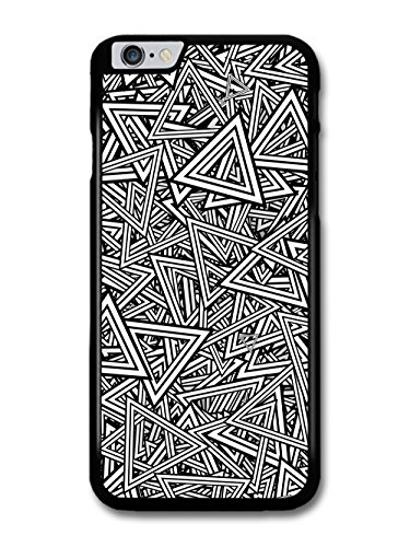 Triangles in Black and White Pattern Goth Grunge Hipster Cool case for iPhone 6 Plus 6S Plus