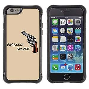 ZAKO Cases / Apple Iphone 6 / Problem Solver Gun / Robusto Prueba de choques Caso Billetera cubierta Shell Armor Funda Case Cover Slim Armor