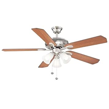 Hampton bay glendale 52 in brushed nickel ceiling fan amazon hampton bay glendale 52 in brushed nickel ceiling fan mozeypictures Image collections