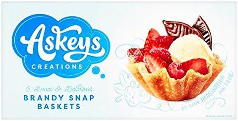 Askeys creaciones 6 dulces y delicioso Brandy Snap cestas (Pack de ...