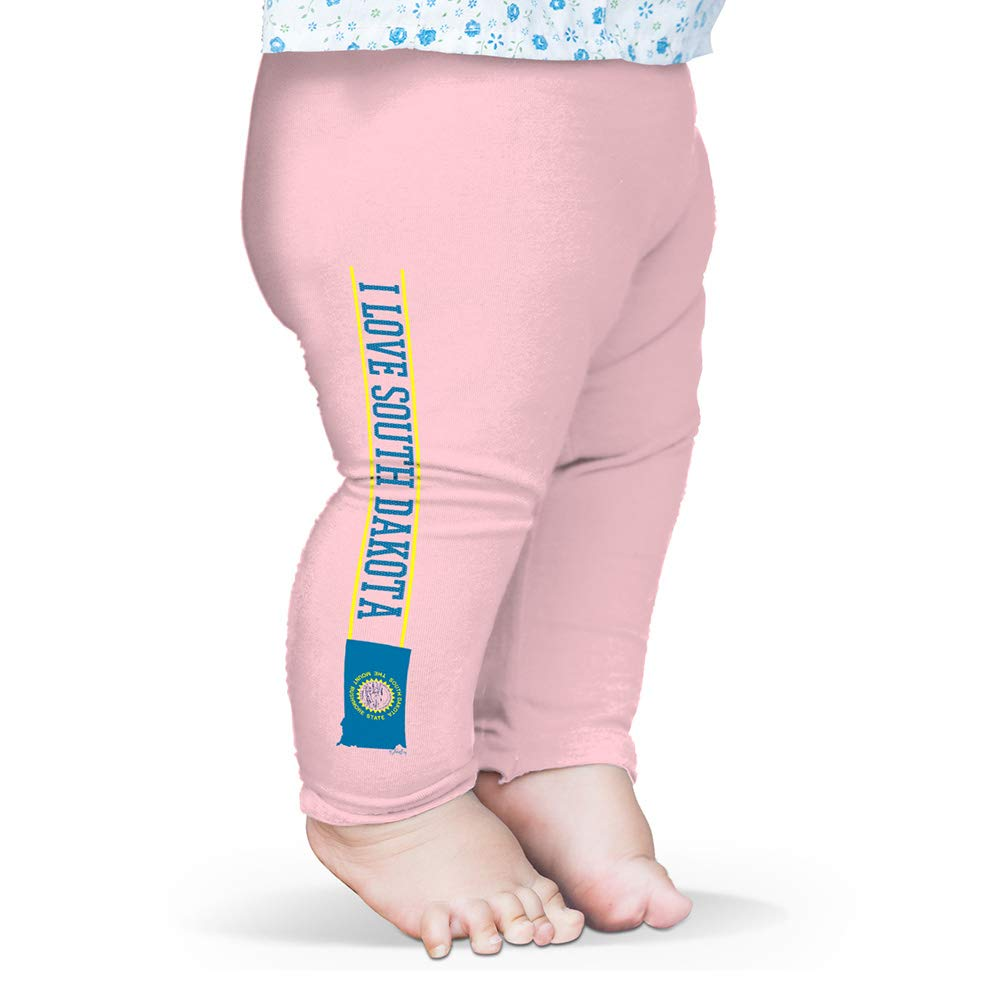Twisted Envy I Love South Dakota State Flag Baby Funny Leggings Trousers