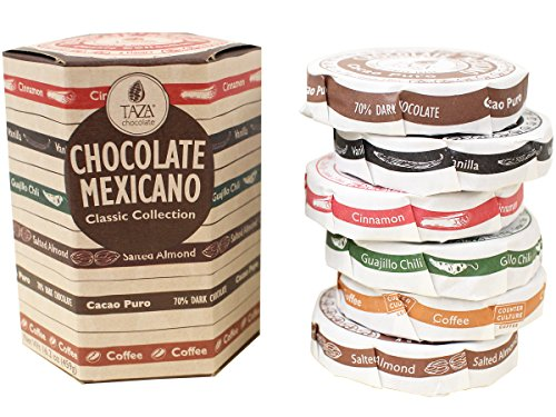 Stone Ground Organic Chocolate (Taza Chocolate Mexicano Disc, Stone Ground Organic, Classic Collection, 6 Flavor Variety Pack, 16.2 Ounce)