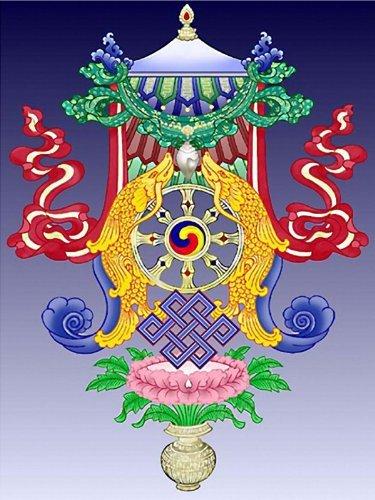 Amazon Buddhism Eight Auspicious Symbols Etched Vinyl