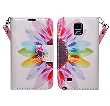 Samsung Galaxy Note 4 Case, Sun Flower Design Magentic Pu Leather Wallet With Fold Up Kickstand (Includes HD CLear Screen Protector and Touch Sensitive Stylus Pen) (Sun Flower)
