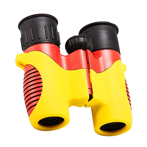 Telescope Children's Binoculars Set-Compact Mini Rubber Telescopes-Educational Learning-Gifts for Children-Outdoor Play-Toys (Color : A)