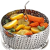 STANDARD Vegetable Steamer Basket Set - Steamer Insert for Instant Pot + Safety Tool - 100% Stainless Steel - Pressure Cooker & Instant Pot Accessories, Pot in Pot - Egg Rack