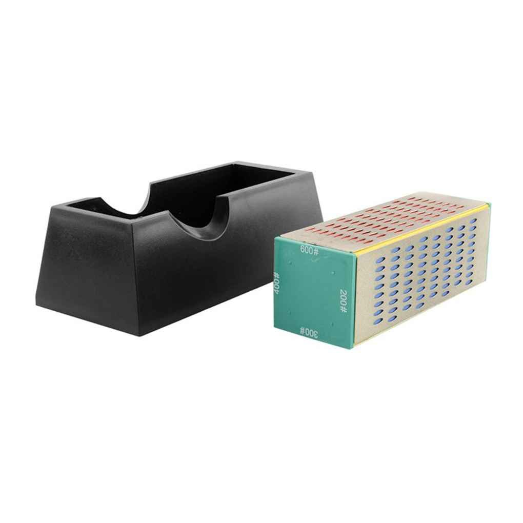 Four Sided Whetstone Diamond Cutter Sharpener Grinding Stone Sharpening Block Household Cutting Gardening Tools Xuanhemen