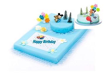 Tortendeko 1 Geburtstag Mickey Mouse Baby 10 Teilig Tortenaufleger