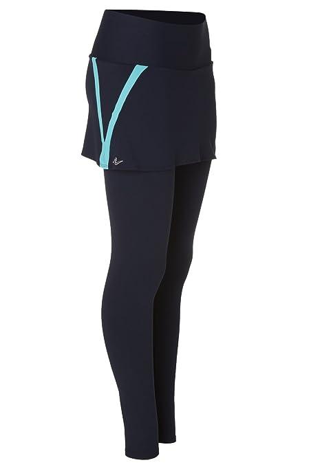 Naffta Tenis Padel - Falda Pantalón para Mujer, Color Marino/Turquesa, Talla M