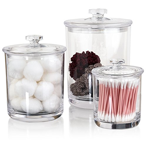 Premium Quality Clear Plastic Apothecary Jars | Set of - Quality Seashells