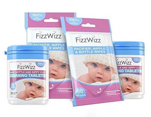 fizzwizz-baby-bottle-sippy-cup-cleaning-tablets-and-surface-wipes-2-sets-by-fizzwizz