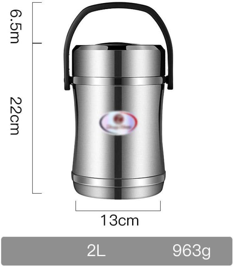 魔法瓶フードジャー食品保温容器保温断熱弁当箱ステンレス鋼真空フラスコサーモポット2L 1.6L、2L