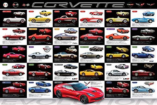 - Corvette Evolution Poster 36x24 inch