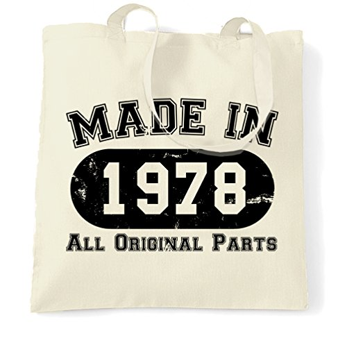in All Bag Original Birthday 40th Made Natural 1978 Shopping Parts xBTZIq6