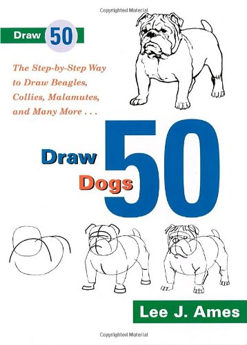 Draw 50 Dogs: The Step-by-Step Way to Draw Beagles, German Shepherds, Collies, Golden Retrievers, Yorkies, Pugs, Malamutes, and Many - Min Retriever 10