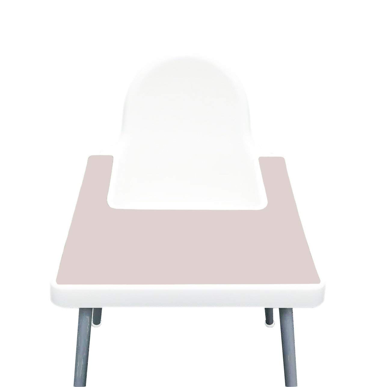 High Chair Placemat for Antilop Baby High Chair – Silicone Placemats for Baby and Toddler Finger Food Dropping – BPA Free, Dishwasher Safe – Non Slip Food Mat + More Colors (Dusty Rose)