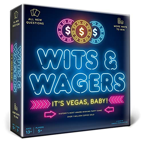 North Star Games Wits & Wagers Board Game | Vegas Edition, Kid Friendly Party Game and Trivia