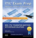 img - for Itil V3 Exam Prep Questions, Answers, & Explanations: 800+ Itil Foundation Questions with Detailed Solutions (Paperback) - Common book / textbook / text book