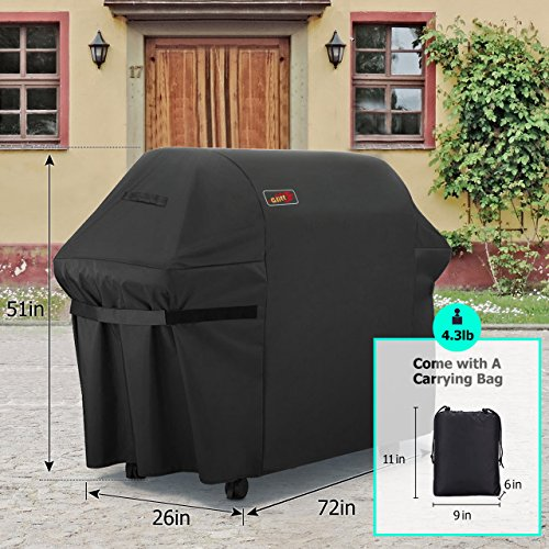 VicTsing 5+ Burner Gas Grill Cover, Heavy Duty Fits Most Brands of Grill-Large 72 Inch BBQ Waterproof Durable Cover + Storage Bag (UV & Dust & Water Resistant, Rip Resistant)