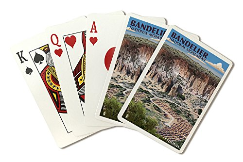 Bandelier National Monument, New Mexico - Tyuonyi Aerial View (Playing Card Deck - 52 Card Poker Size with Jokers) ()