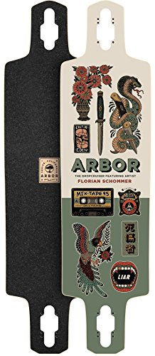 Arbor Dropcruiser AC 2017 Longboard Deck New With Grip Tape by Arbor
