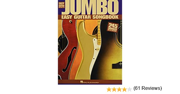 JUMBO EASY GUITAR SONGBK Easy Guitar with Notes & Tab: Amazon.es ...