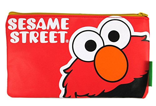 Red Sesame Street Elmo Pencil Pouch Cosmetic Bag