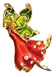 Macy's Holiday Lane Fairy in Red Dress Brooch Pin